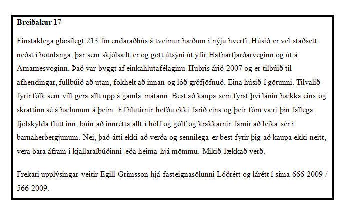 Breiðakur 17