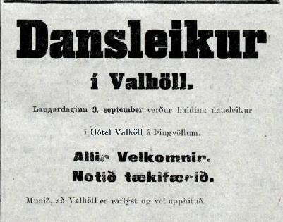 raflýst Valhöll