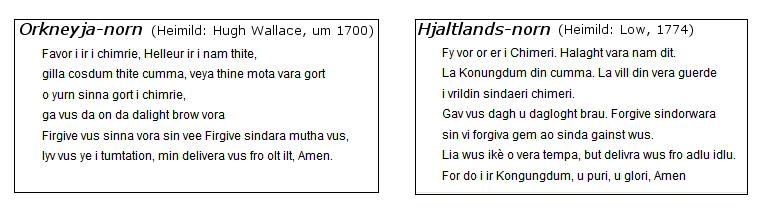 Faðirvorið á Norn