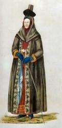 Kona � reiðfötum 1772