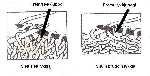 Snúið austrænt prjón
