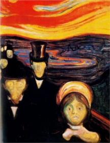 Angst eftir Munch