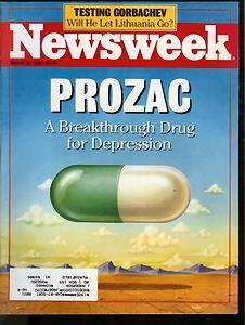 Prozac lofsungið - fors�ða Newsweek 1990