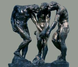 Skuggarnir þr�r eftir Rodin